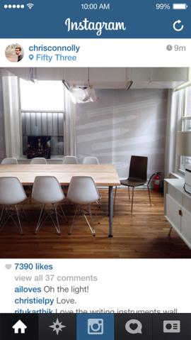 Instagram nieuw flat homescherm