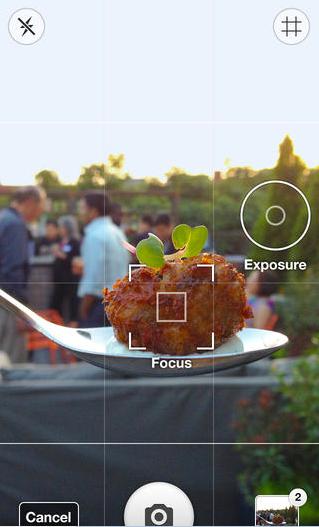 Foodspotting camera