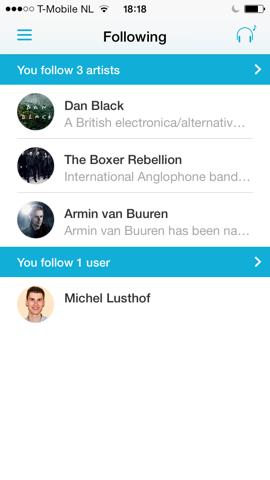 Discovr artiesten en vrienden volgen