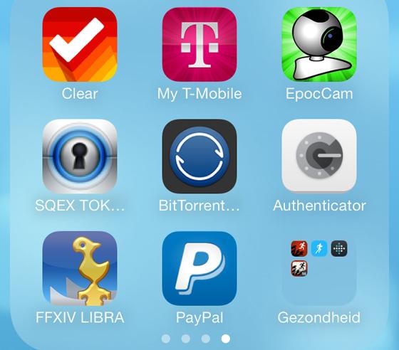 iOS 7 folders in folders