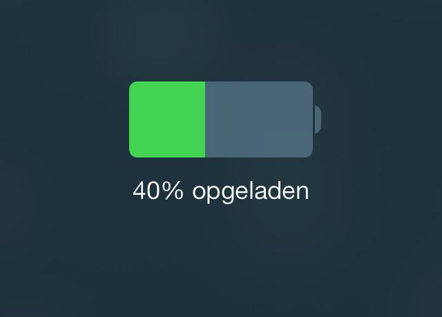 Batterij iOS 7