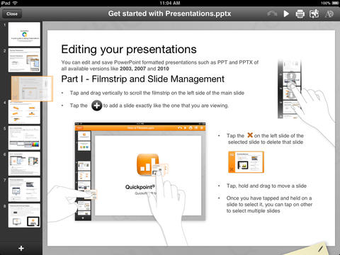 Quickoffice Powerpoint-presentatie iPad maken