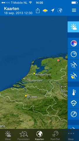 WeatherPro iPhone kaart parallax iOS 7