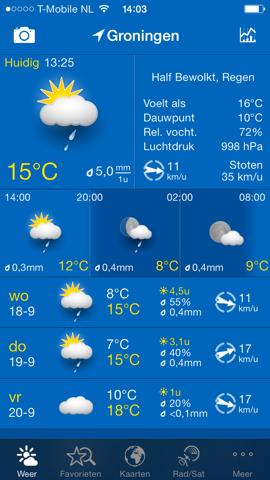 WeatherPro iOS 7 iPhone
