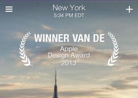 Yahoo Weer iOS7 Apple Design Award