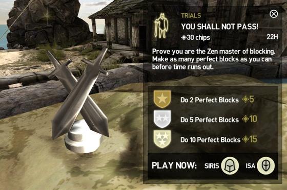 Infinity Blade III ClashMobs uitdaging