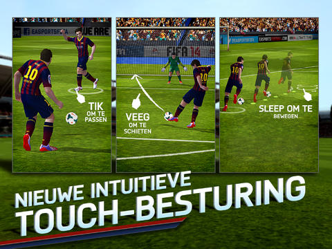 FIFA 14 NL touchbesturing op iPad