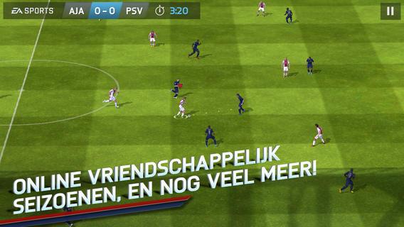 FIFA 14 NL iPhone breed veld