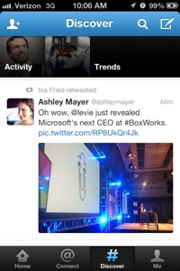 discover iphone twitter
