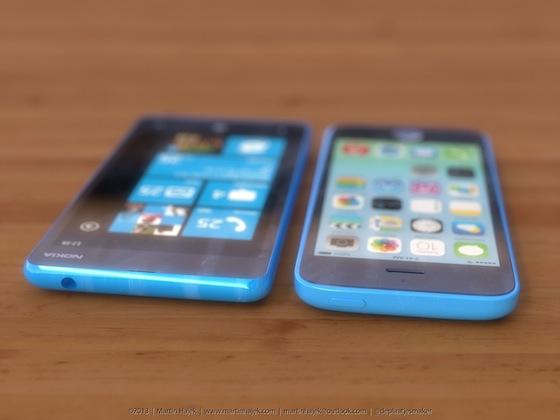 iPhone 5c lumia 1