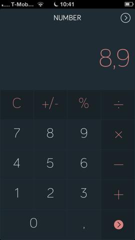 Amount iPhone-calculator omrekenen