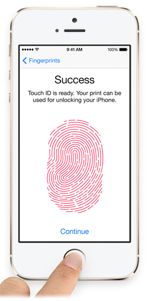 Touch ID op de iPhone 5s
