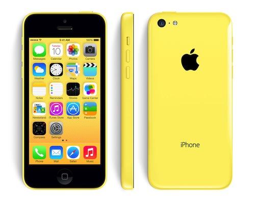iPhone 5c geel alle kanten