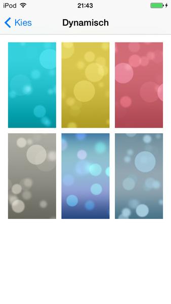 Dynamische achtergronden iOS 7