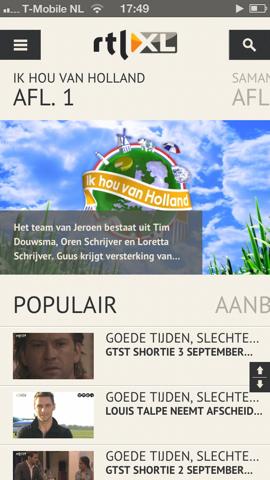 RTL XL home Ik hou van Holland