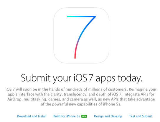 submit ios 7