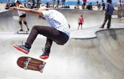 Skateboard slow motion