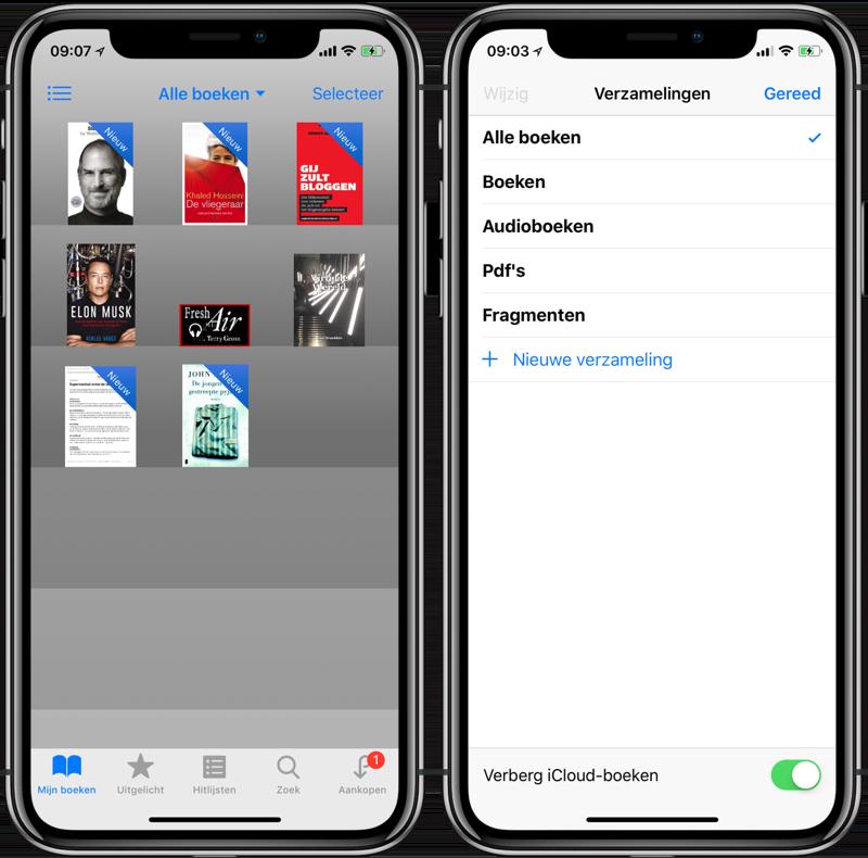 iBooks boeken verbergen iCloud