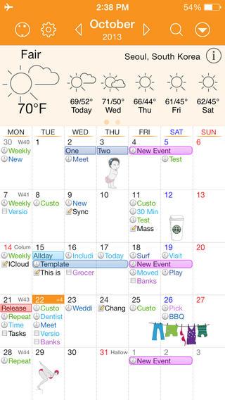 Awesome Calendar maandoverzicht sticker