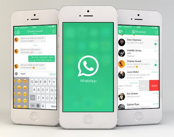 WhatsApp iOS 7 teaser
