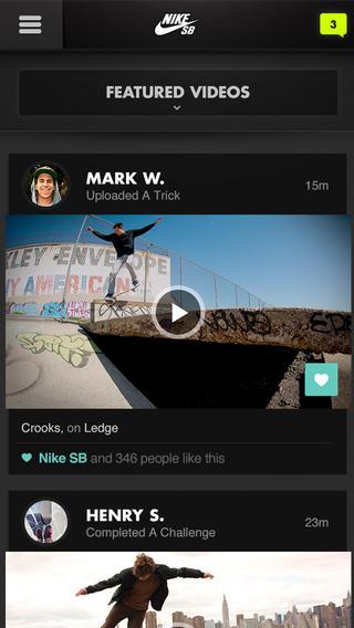 Nike SB uitdagingen video's