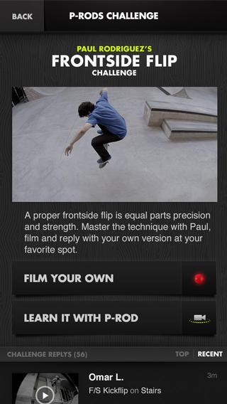 Nike SB film je skate trick iPhone-app
