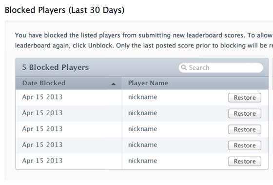blocked players