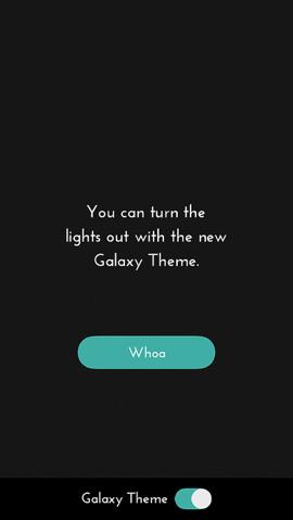 dots galaxy thema zwart