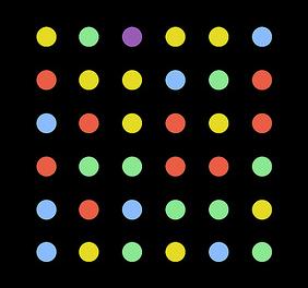 dots zwart
