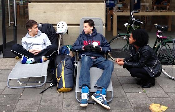 iPhone 5s rij Amsterdam