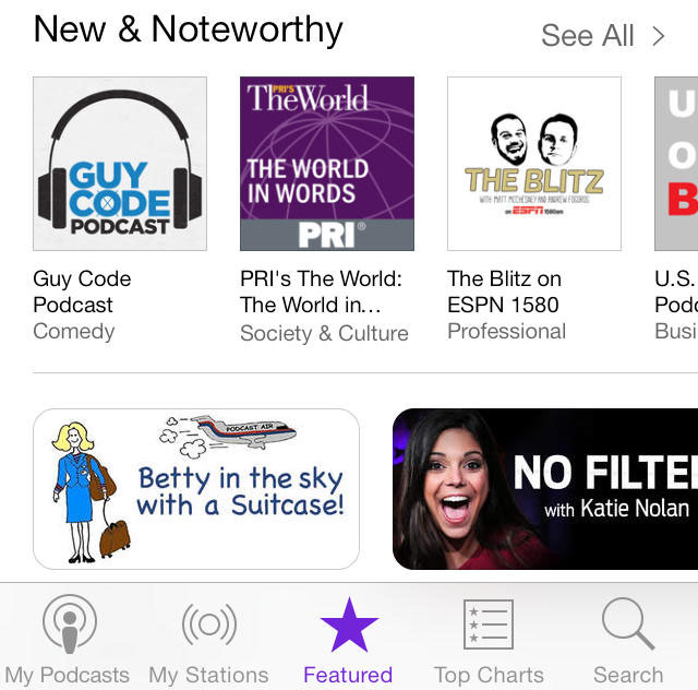 Podcasts iOS 7 3