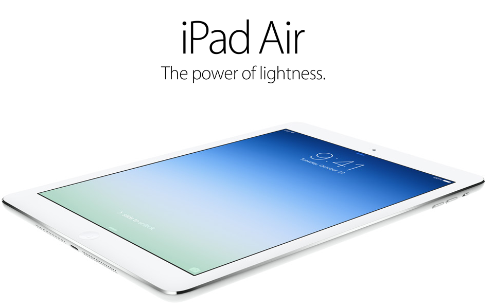 iPad Air promo