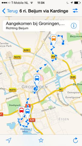 Openbaar Vervoer route van lijn