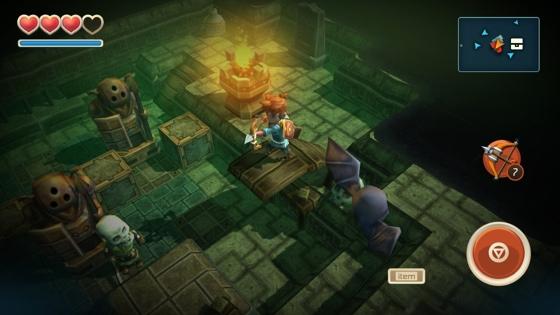 ICS Zelda voor iPhone iPad Oceanhorn
