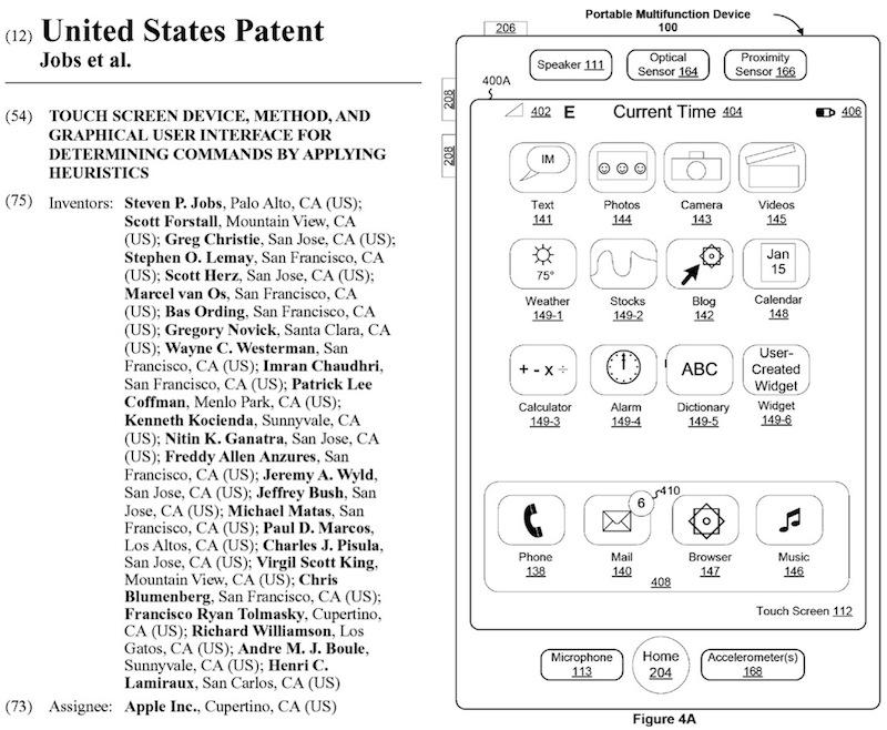 Steve Jobs patent