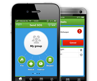 SOS4US iPhone Android noodoproep-app