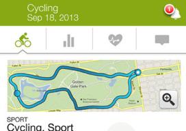 Endomondo Sports Tracker kaart fietsen iphone