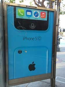 iphone-5c-blauw-kleur-reclamebord