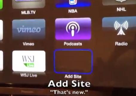 Add site Apple TV