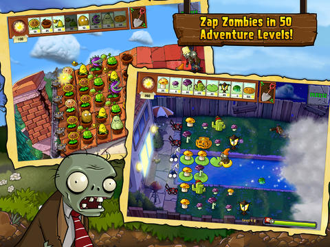 plants vs zombies hd voor iPad