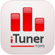iTuner Tops muzieklijsten hitlijsten iPhone iPad