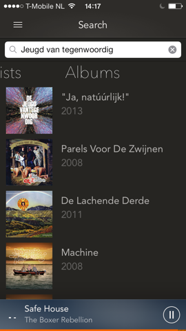 gMusic 2 albums zoeken Google Music iPhone