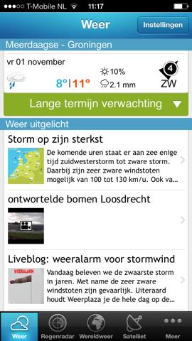 Storm-apps iPhone Weerplaza weer uitgelicht