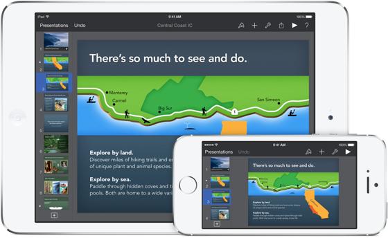 iWork apps Keynote tussenplaat