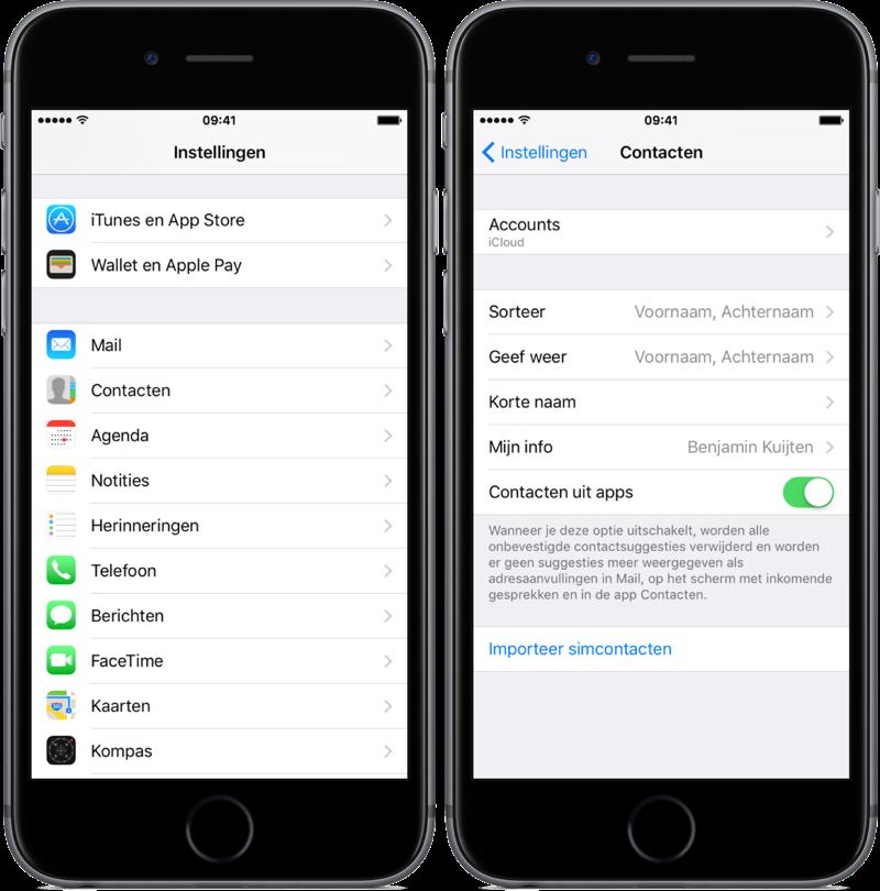 Simcontacten importeren naar je iPhone.