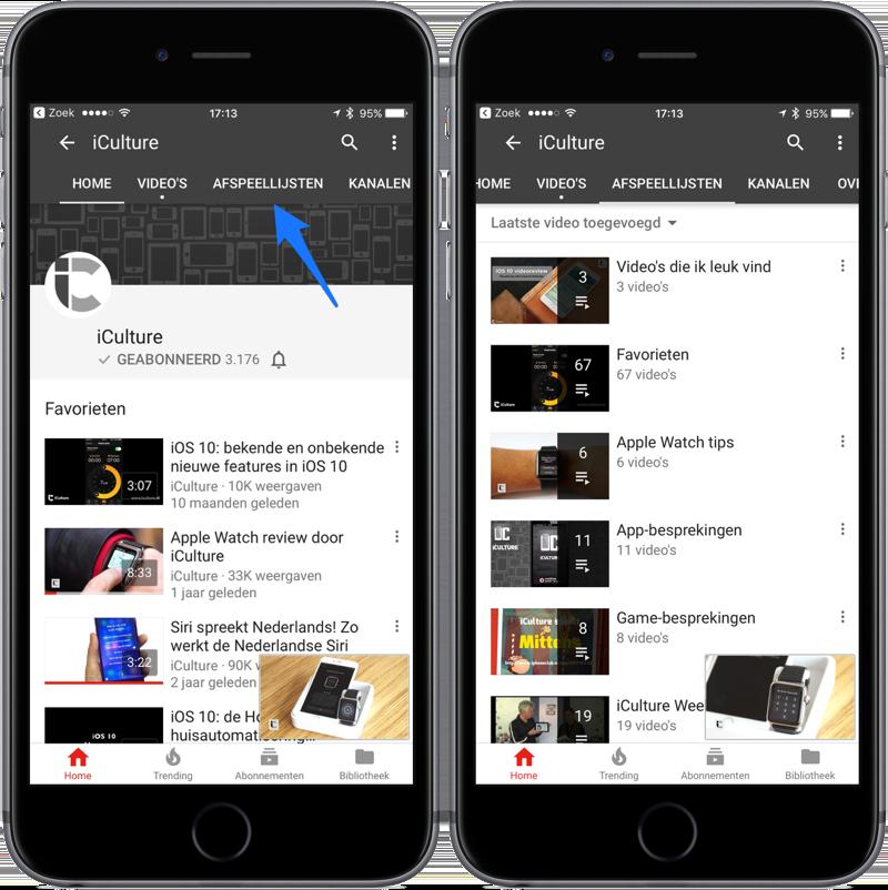 YouTube afspeellijsten van anderen bekijken