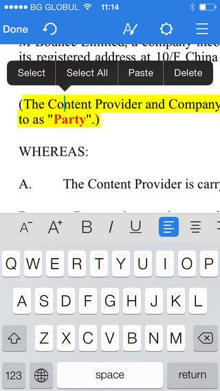 OfficeSuite Professional Word verwerken iPhone