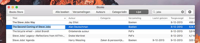 iBooks titel aanpassen