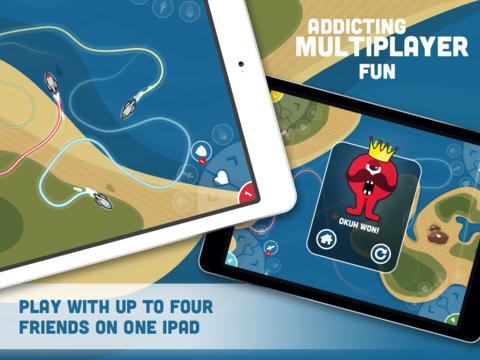 Aliens and Rockets multiplayer iPad