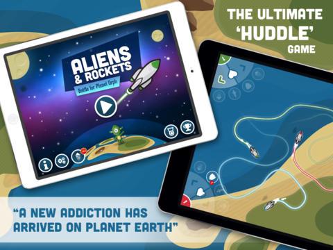 Aliens and Rockets iPad Nederlandse game
